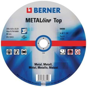 Disco de desbaste METALline Top, medidas 150x6x22,2 mm